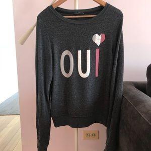 "WILDFOX ""Oui"" sweater"